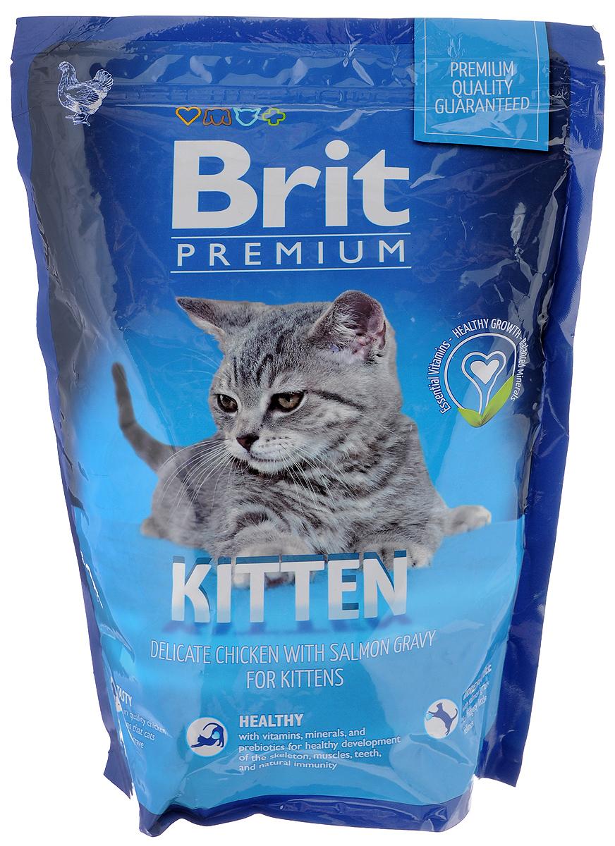 Корм сухой Brit Premium для котят, с курицей в соусе из лосося, 800 г корм brit ягненок 340g 29419 для котят