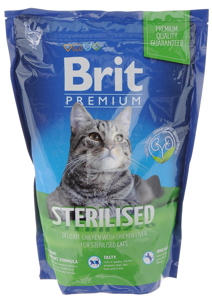 Корм сухой Brit Premium Cat Sterilised для кастрированных котов и стерилизованных кошек, нежная курица с печенью, 800 г513154Сухой корм Brit Premium Cat Sterilised– это отлично сбалансированное питание, изготовленное из высококачественных компонентов, которые содержат все необходимые для полноценной жизни кошки питательные и минеральные вещества, витамины и микроэлементы, а также отличаются хорошими вкусовыми качествами. Специально разработан для кастрированных котов и стерилизованных кошек. Товар сертифицирован.