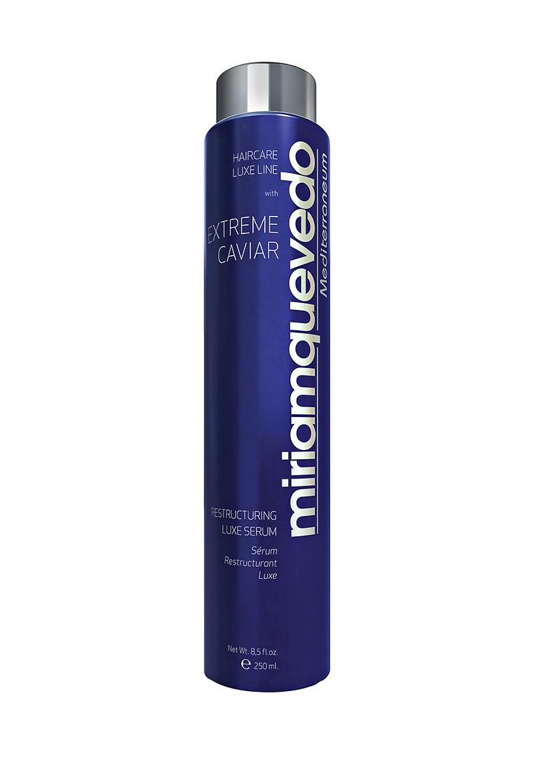 Miriam Quevedo Восстанавливающая сыворотка-люкс для волос с экстрактом черной икры (Extreme Caviar Restructuring Luxe Serum) 250 млMQ339Сыворотка создана для постоянного ухода за волосами всех типов, особенно для окрашенных, осветленных и волос с химической завивкой. В формулу средства входят изофлавоны из соевых бобов и витамины группы В из пивных дрожжей, которые обладают свойствами кондиционера. Волосы легко расчесываются и поддаются укладке. Экстракт черной икры, богатый липопротеинами, интенсивно восстановит структуру ослабленного волоса, подарит природный блеск и шелковистую мягкость.