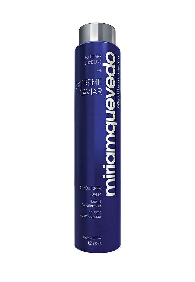 Miriam Quevedo Бальзам-кондиционер с экстрактом черной икры (Extreme Caviar Conditioner Balm) 250 млMQ343Средство по уходу за волосами с восстанавливающими свойствами содержит в себе экстракт черной икры, который богат липопротеинами, микроэлементами и витаминами. Они подарят силу и здоровье, предупредят процесс старения волос, оградят от сечения, раннего выпадения и нарушения работы сальных желез. п Бальзам придаст поврежденным и ослабленным волосам свежий и здоровый вид.Способ применения: после мытья волос нанесите бальзам массирующими движениями на кожу головы и распределите по всей длине. Подержите 5-10 минут и полностью смойте.