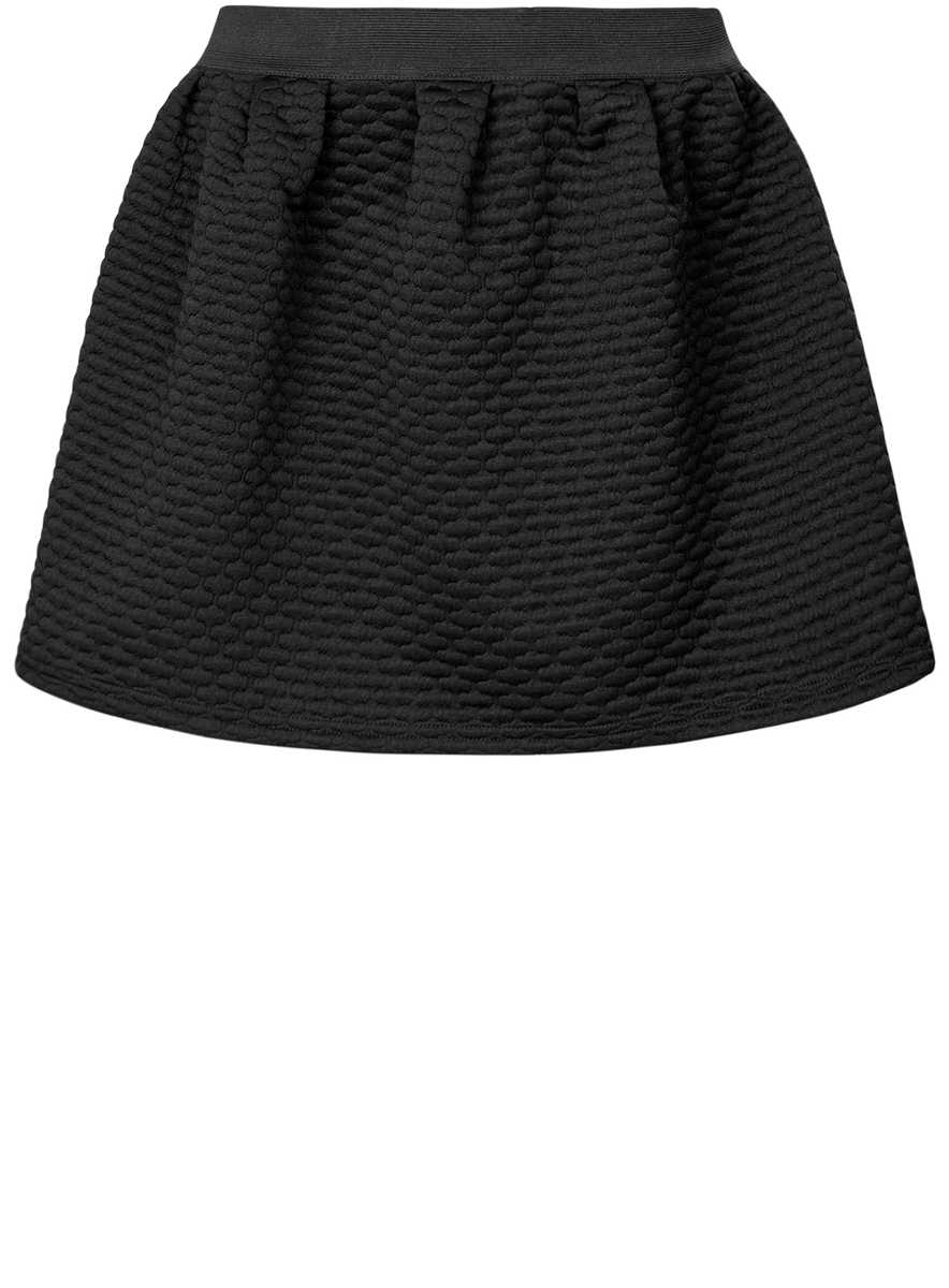 Юбка oodji Ultra, цвет: черный. 14100019-2/45990/2900N. Размер XXS (40)14100019-2/45990/2900NЮбка oodji Ultra выполнена из мягкого фактурного материала. Модель застегивается сзади на молнию. Юбка дополнена в поясе широкой резинкой.