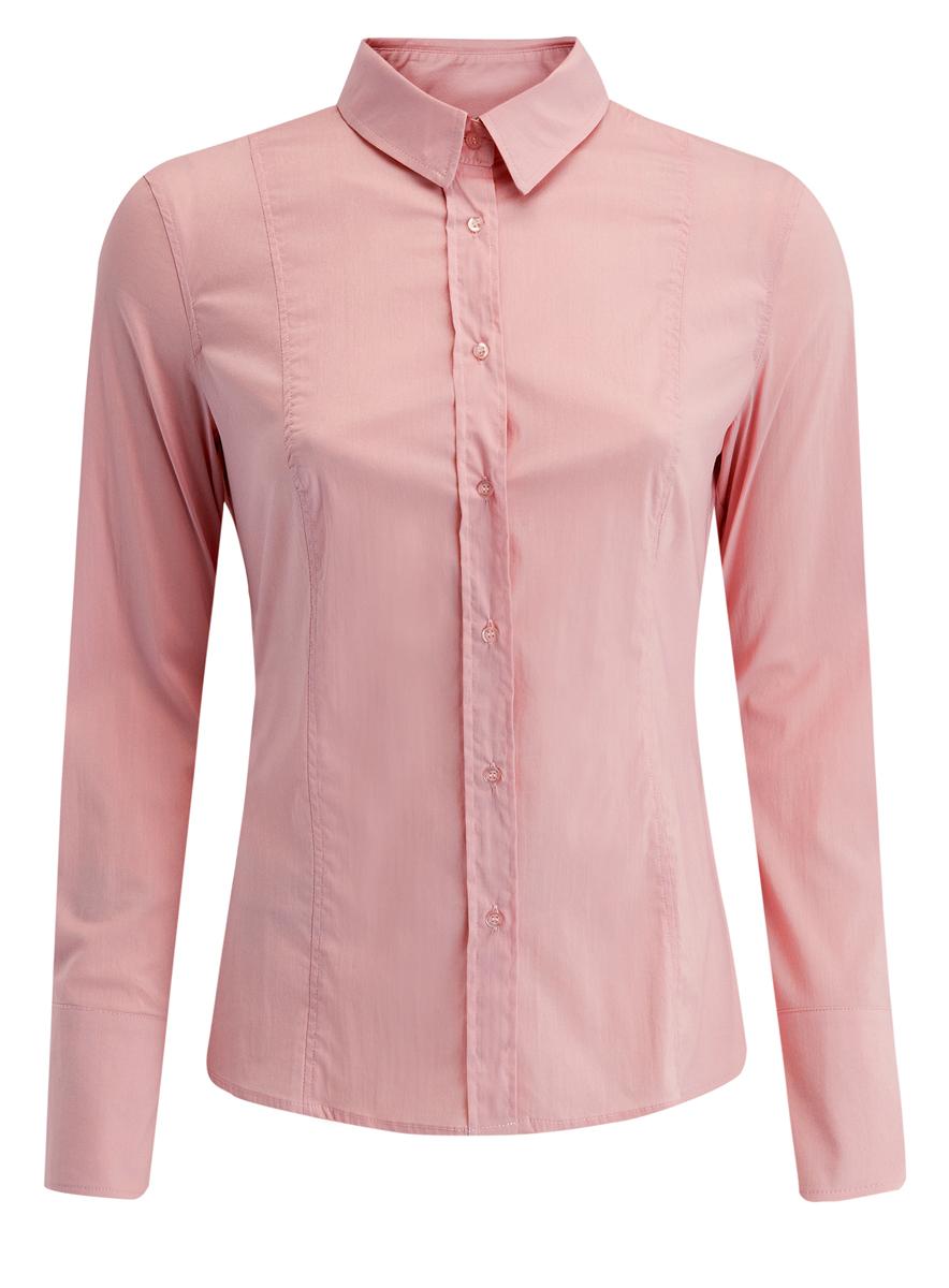 Блузка женская oodji Collection, цвет: светло-розовый. 21400391/33431/4000N. Размер 46 (52-170) блузка miamoda klingel цвет розовый белый