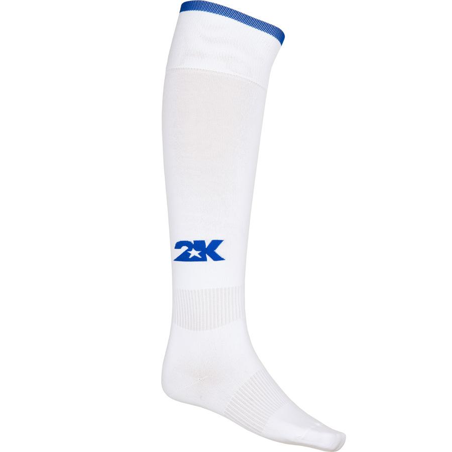 Гетры футбольные 2K Sport Classic, цвет: белый, синий. 120334. Размер 36/40120334_white/royalКлассические футбольные гетры выполнены из высококачественного материала. Оформлены логотипом бренда.