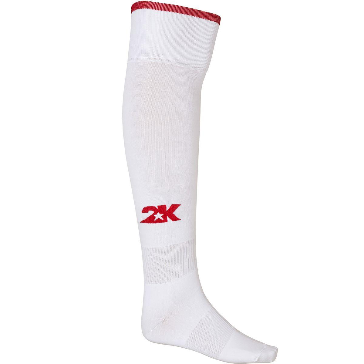 Гетры футбольные 2K Sport Classic, цвет: белый, красный. 120334. Размер 36/40120334_white/redКлассические футбольные гетры выполнены из высококачественного материала. Оформлены логотипом бренда.