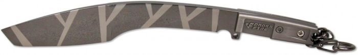 Брелок-стальной нож Ножемир Мачете. Камуфляж, общая длина 16,2 см. E-203 брелок нож пуля