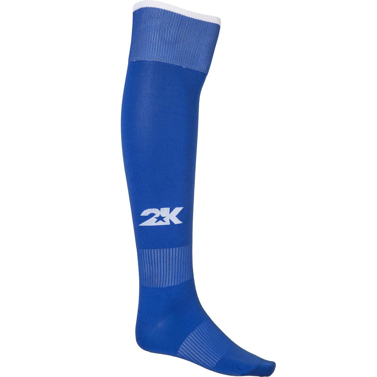 Гетры футбольные 2K Sport Classic, цвет: синий, белый. 120334. Размер 36/40