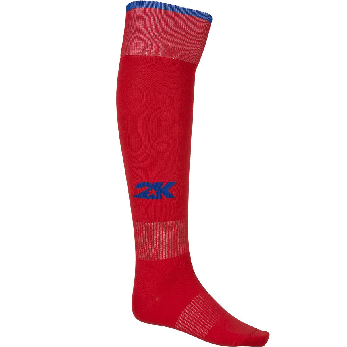 Гетры футбольные 2K Sport Classic, цвет: красный, синий. 120334. Размер 41/46120334_red/royalКлассические футбольные гетры выполнены из высококачественного материала. Оформлены логотипом бренда.