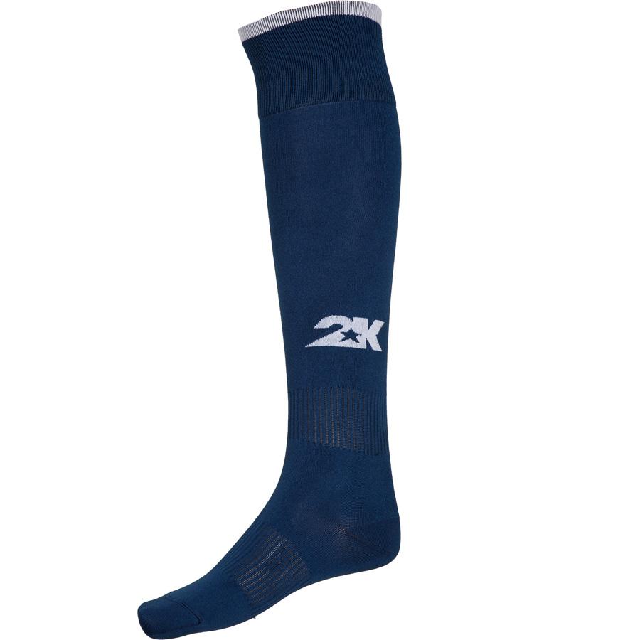 Гетры футбольные 2K Sport Classic, цвет:  темно-синий, белый.  120334.  Размер 41/46 2K Sport