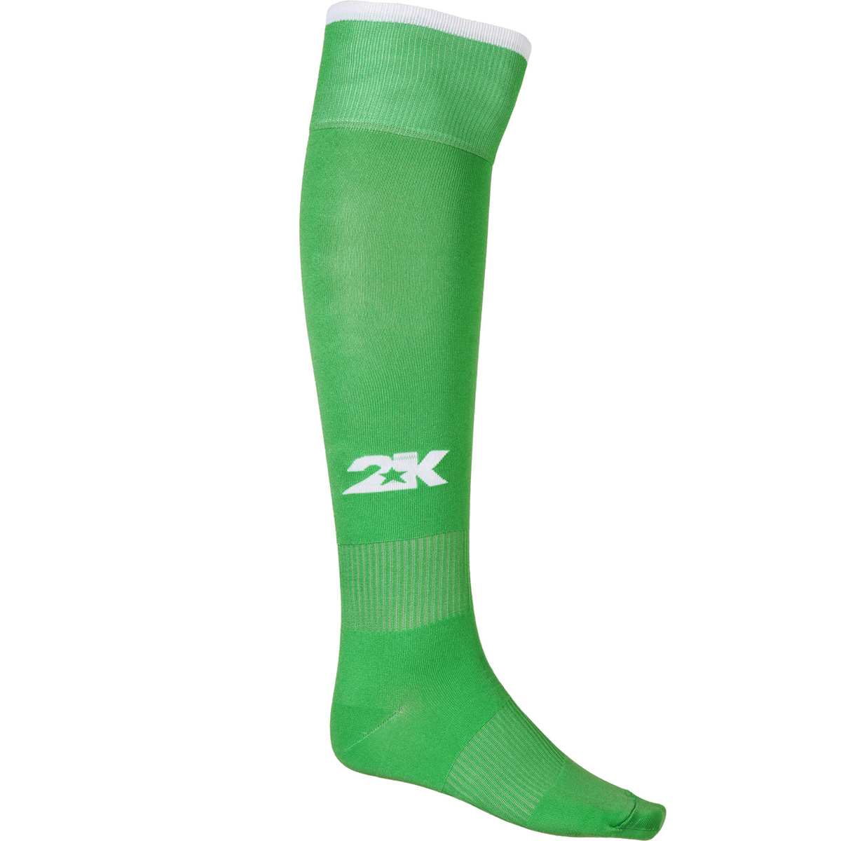 Гетры футбольные 2K Sport Classic, цвет: зеленый, белый. 120334. Размер 41/46