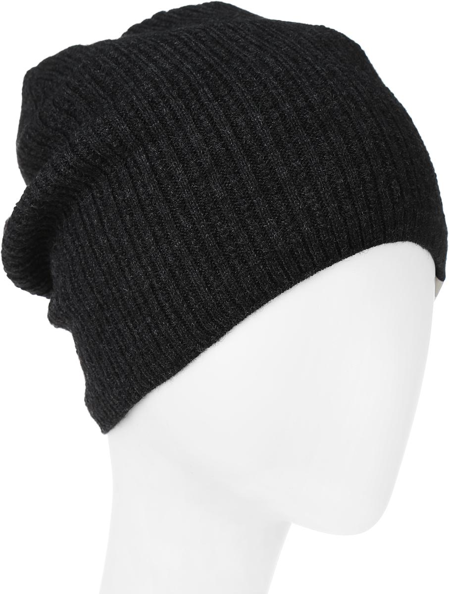 Шапка женская Marhatter, цвет: антрацит. MFH6566/2. Размер 55/56MFH6566/2Стильная женская шапка Marhatter, изготовленная из шерсти и акрила, она обладает хорошими дышащими свойствами и хорошо удерживает тепло. Модель оформлена интересным, вязаным узором. Практичная форма шапки делает ее очень комфортной, а маленькая аккуратная нашивка с названием бренда подчеркивает ее оригинальность.
