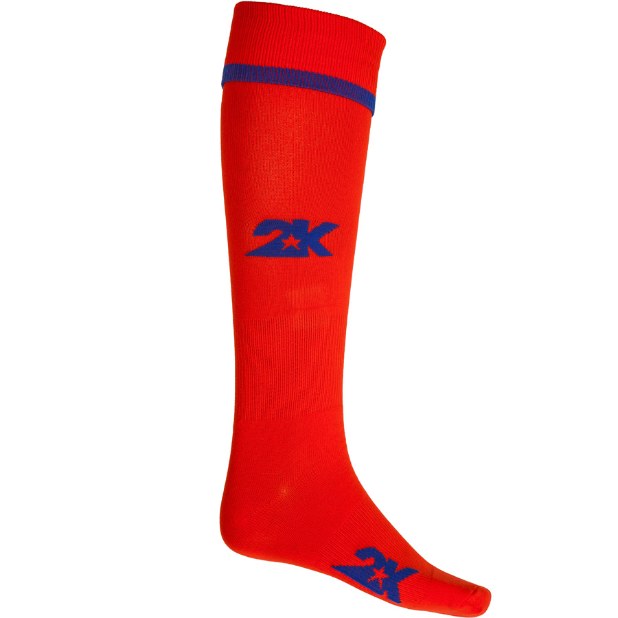Гетры футбольные 2K Sport Betis, цвет: красный, синий. 120318. Размер 41/46120318_red/royalБазовая модель футбольных гетр. Модель выполнена из высококачественного материала. Оформлены логотипом бренда.