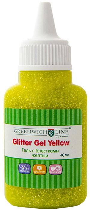 Greenwich Line Гель-краска с блестками цвет желтый 40 млГл_6950Гель-краска с блестками Greenwich Line предназначена для художественных работ по любым видам поверхностей. Гель уникален по своим свойствам. При производстве использованы материалы нового поколения, в связи с чем продукция без запаха, не токсична, без вредных для здоровья компонентов. Не имеет аналогов.