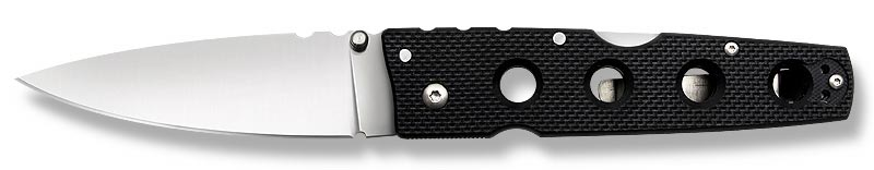 Нож складной Cold Steel Hold Out II, общая длина 22,8 смCS-11HLСкладной нож Cold Steel Hold Out II, выполненный в классическом стиле, станет отличным подарком для рыбака, охотника или человека, который ценит отдых на природе. Нож оснащен оригинальной эргономичной рукоятью из прочного пластика (G10). Лезвие ножа изготовлено из высококачественной нержавеющей стали AUS8.Размер ножа в открытом виде: 22,8 см.Толщина обуха: 3,5 мм.Длина ножа (в сложенном виде): 12,7 см.