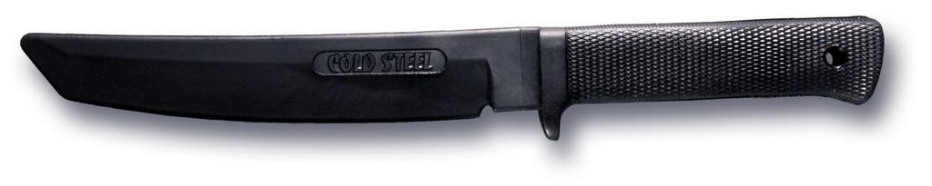 """За последние 20 лет всемирно известная американская компания Cold Steel довела до совершенства свои боевые кинжалы. Ее превосходные японские ножи Танто являются непревзойденными образцами высочайшего мастерства по отделке, что относит их к разряду весьма дорогих и доступных только для настоящих ценителей. Ножи Recon Tanto прекрасно сочетают 7"""" лезвие, изготовленное из нержавеющей стали AUS 8A, с классической формой японского кинжала Танто, а удобная рукоять Kray-Ex, спроектированная в западном стиле, прекрасно ощущается рукой.Ножи Recon Tanto стали эталоном для производителей холодного оружия по всему миру. Они настолько хорошо зарекомендовали себя на практике, что используются различными спецподразделениями и военными командами во многих странах по всему миру. Получить больше информации о ножах Recon Tanto можно в местных специализированных магазинах. А увидев исключительное качество ножа, его сверхострый клинок, красоту и изящество его формы, невозможно отказать себе в удовольствии обладать этим великолепным образцом холодного оружия.Материал рукояти: Резина.Материал клинка: Резина."""
