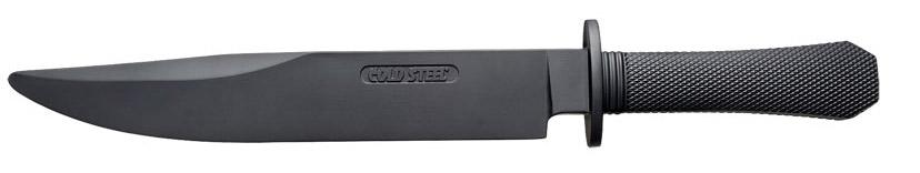 """Тренировочный нож модели """"Laredo Bowie"""", выполненный с фиксированным клинком, разработан всемирно известным производителем Cold Steel. Такой нож изготовлен полностью из резины. Модель можно использовать для самостоятельной тренировки, учений, отработки обезвреживания противника и показных учений. За счёт высокой износостойкости и эластичности резиновые рукояти очень удобны.Длина клинка: 26,6 см.Толщина клинка: 6 мм."""