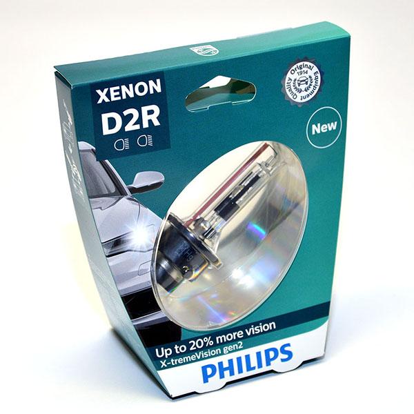 Лампа автомобильная ксеноновая Philips X-tremeVision gen2, цоколь D2R, 85 Вт85126 XV2S1X-tremeVision gen2 — последняя разработка в области ксеноновых ламп. Световое излучение этой лампы доведено до предела, и она обеспечивает самый мощный луч. Это позволяет получить исключительные характеристики освещения и уникальную организацию света для оптимального комфорта вождения. ? Оптимальные характеристики освещения? Улучшение видимости до 150%*? Максимальная безопасность и видимость? Предназначены для взыскательных водителей