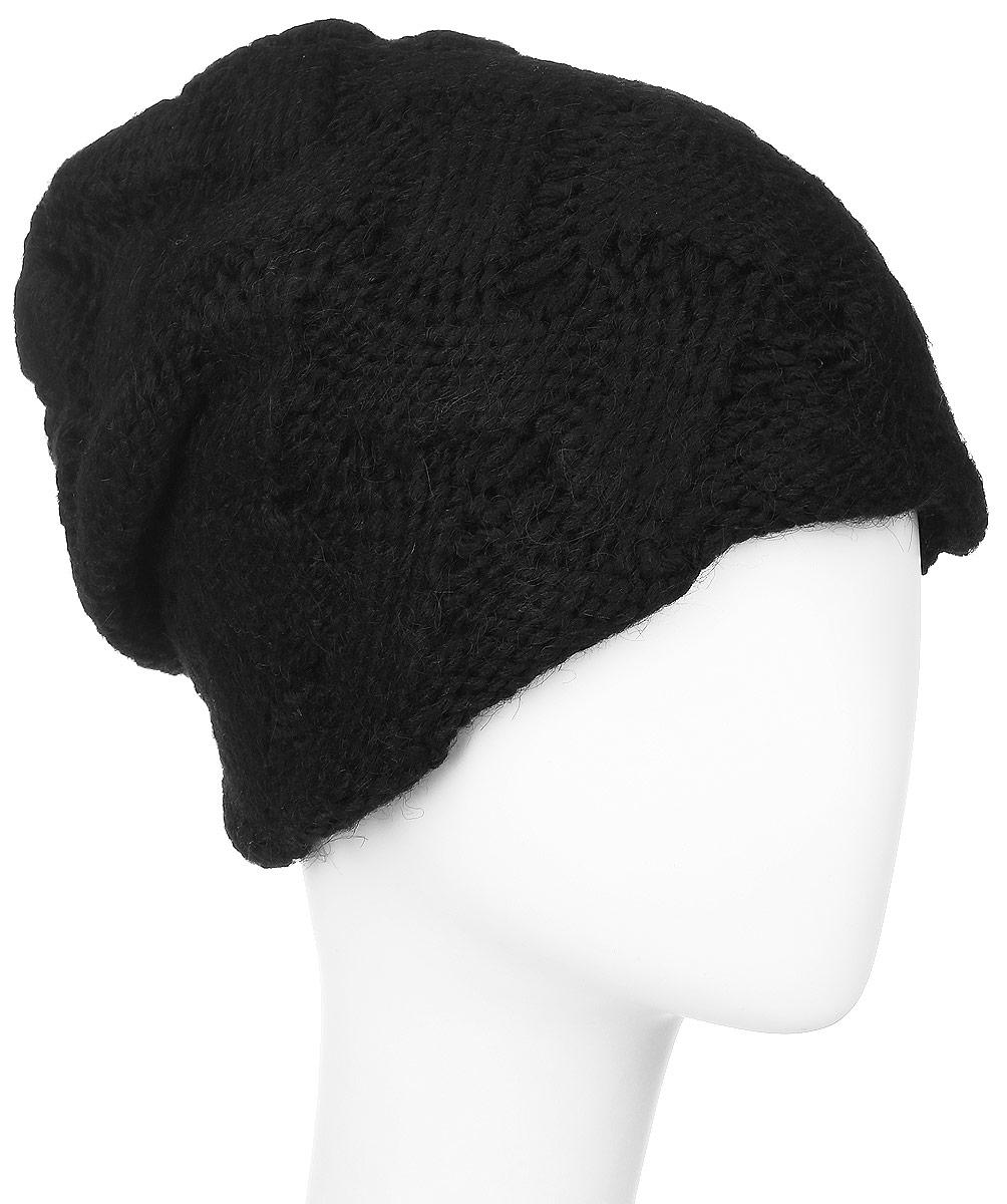 Шапка женская Vittorio Richi, цвет: черный. 341907V. Размер 56/58341907V-18Женская шапка Vittorio Richi выполнена из сочетания шерсти и акрила. Оформлена модель объемной ажурной вязкой. Уважаемые клиенты!Размер, доступный для заказа,является обхватом головы.