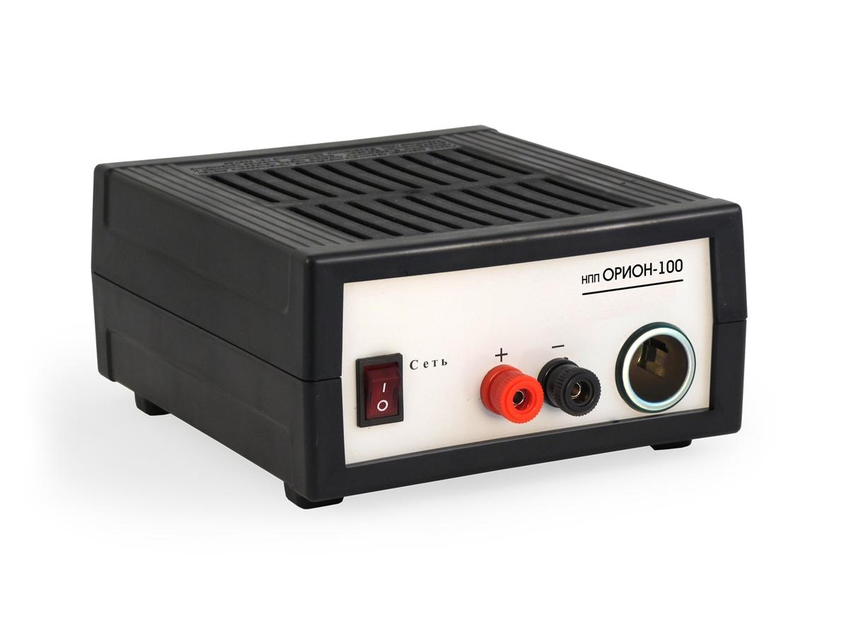 Зарядное устройство НПП Орион-100, 0-20А, 12В2015НАЗНАЧЕНИЕИсточник питания Орион PW 100 является эквивалентом бортовой цепи автомобиля с работающим двигателем ТЕХНИЧЕСКИЕ ХАРАКТЕРИСТИКИ-Выходной ток до 15 А -Максимальная выходная мощность 210 В -Выходное напряжение в режиме стабилизации напряжения 14,2 В -Выходное напряжение в режиме стабилизации тока 0 - 14,2 В -Диапазон рабочих температур –10°С – +40°С -Масса 1 кг -Габариты 155мм х 85мм х 200мм