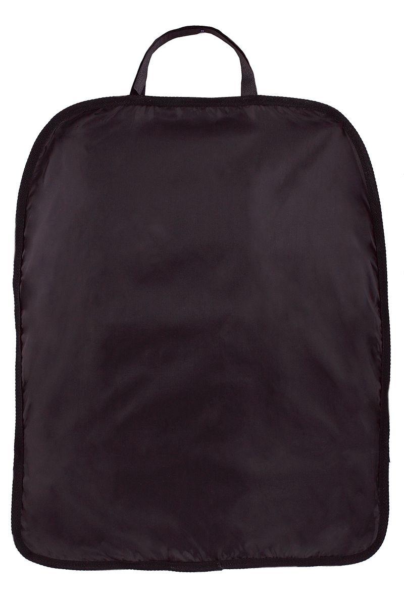 Накидка для спинки сиденья Comfort Adress, цвет: черный, 60 см х 48 смdaf014Накидка Comfort Adress, выполненная из непромокаемой ткани ПВХ 250D, защитит спинку переднего сидения автомобиля от влаги и грязи. Накидка крепится к сидению с помощью петли на липучке и резинки.