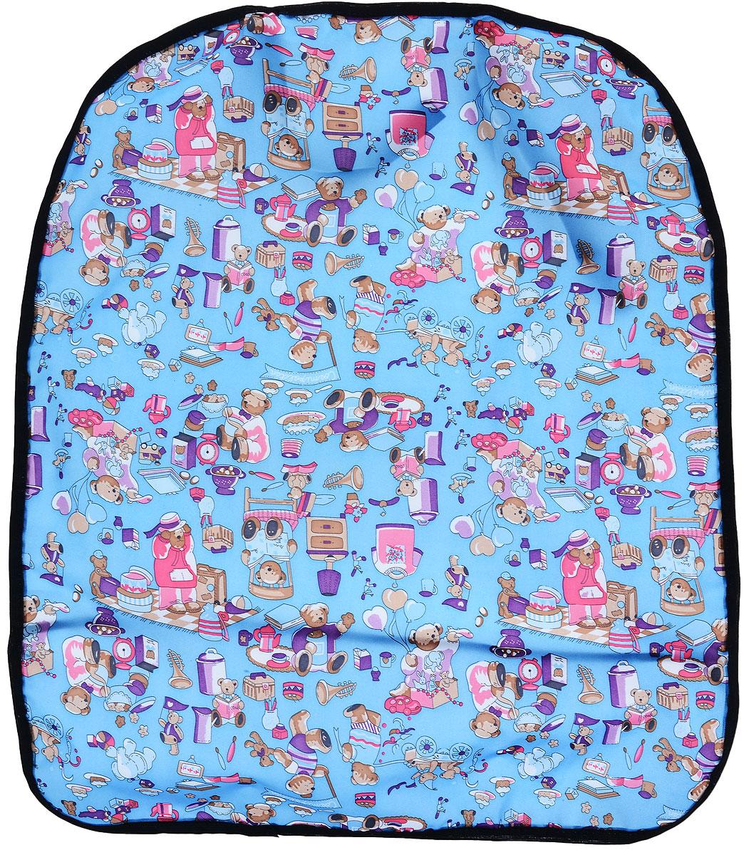 Накидка защитная на спинку сиденья Zipower, для мальчиков, 60 х 45 см. PM 6263PM 6263_синий/мишкиНакидка Zipower защищает спинку сиденья от грязной обуви ребенка и последствий детских шалостей. Отталкивает воду и грязь, легко моется. Легко надевается и снимается. Понравится ребенку благодаря яркой расцветки.