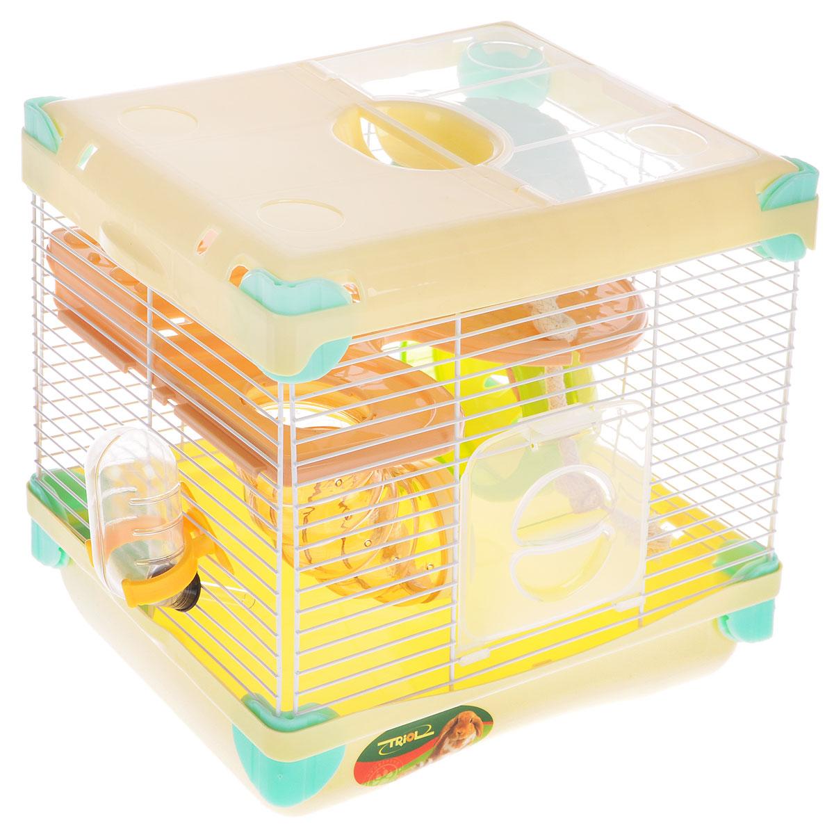 Клетка для грызунов Triol Парк Приключений, 27,5 x 20,5 x 25 см клетка triol n 1601цинк для птиц 34 5 26 44см