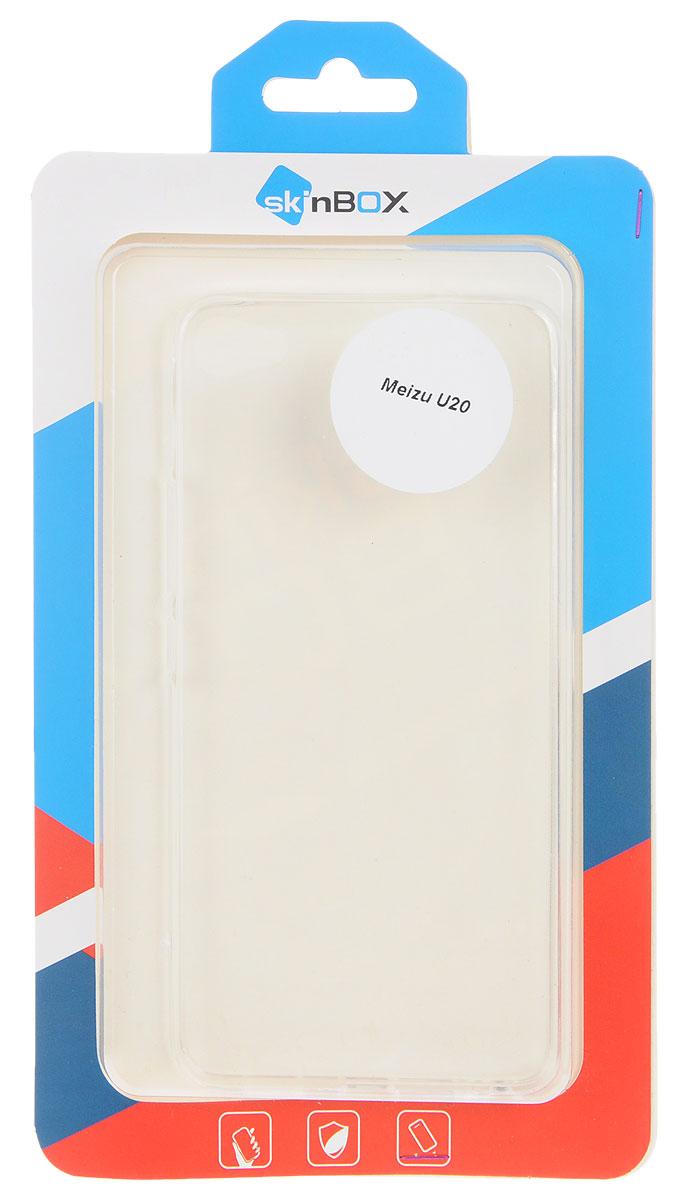 Skinbox Slim Silicone чехол для Meizu U20, Transparent2000000104980Чехол Skinbox Slim Silicone для Meizu U20 надежно защитит ваш смартфон от внешних воздействий, грязи, пыли, брызг. Он также поможет при ударах и падениях, не позволив образоваться на корпусе царапинам и потертостям. Чехол обеспечивает свободный доступ ко всем функциональным кнопкам смартфона и камере.