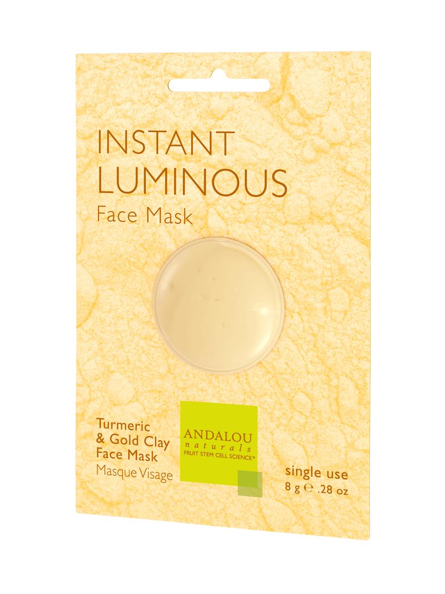 ANDALOU Маска для лица осветляющая Французская глина, 6 шт x 8 г маска для лица черная глина 250мл