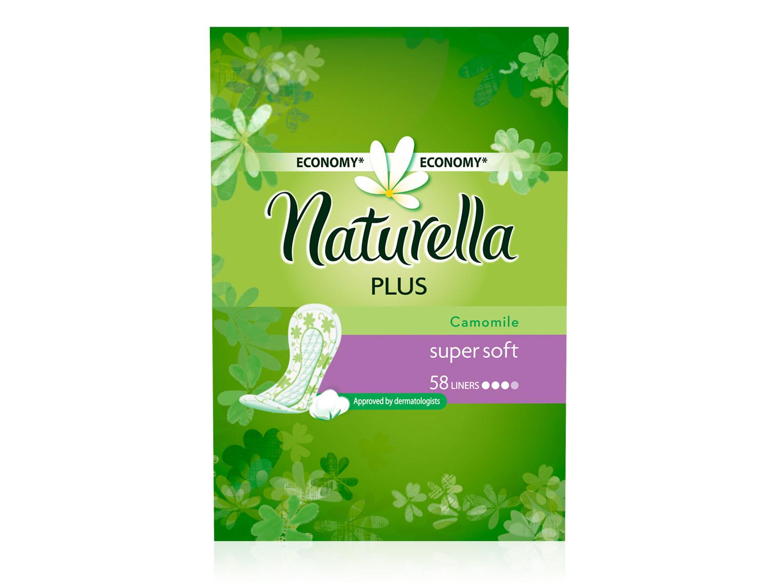 Naturella Женские гигиенические прокладки на каждый день Camomile Plus Trio 58штNT-83730614Сохраните свежесть и защиту на целый день с ежедневными гигиеническими прокладками Naturella Plus. Эти воздухопроницаемые ежедневные прокладки толщиной 1,7 мм с мягким, как лепесток, верхним слоем и легким ароматом, вдохновленным самой природой, обеспечивают свежесть и комфорт каждый день.Одобренные дерматологическим институтом proDERM ежедневные прокладки Naturella каждый день обеспечивают заботу о женской гигиене, которой можно доверять. Ежедневные гигиенические прокладки Naturella одобрены дерматологическим институтом proDERM и обеспечивают надежный ежедневный гигиенический уход.Ежедневные прокладки Naturella отлично защищают нижнее белье при выделениях из влагалища, нерегулярном цикле и выделениях перед менструацией.Во время менструации обязательно воспользуйтесь прокладками Naturella для усиленной защиты. Невероятно мягкий верхний слой обеспечивает дополнительный комфорт в интимной зоне Улучшенная зона впитываемости Являются самыми мягкими и плотными ежедневками в портфеле Naturella Дышащий верхний слой и легкий аромат ромашки для ежедневной свежести Одобрено дерматологами всемирно известного немецкого института proDERM и гарантируют женщинам надежную защиту, которой можно доверять