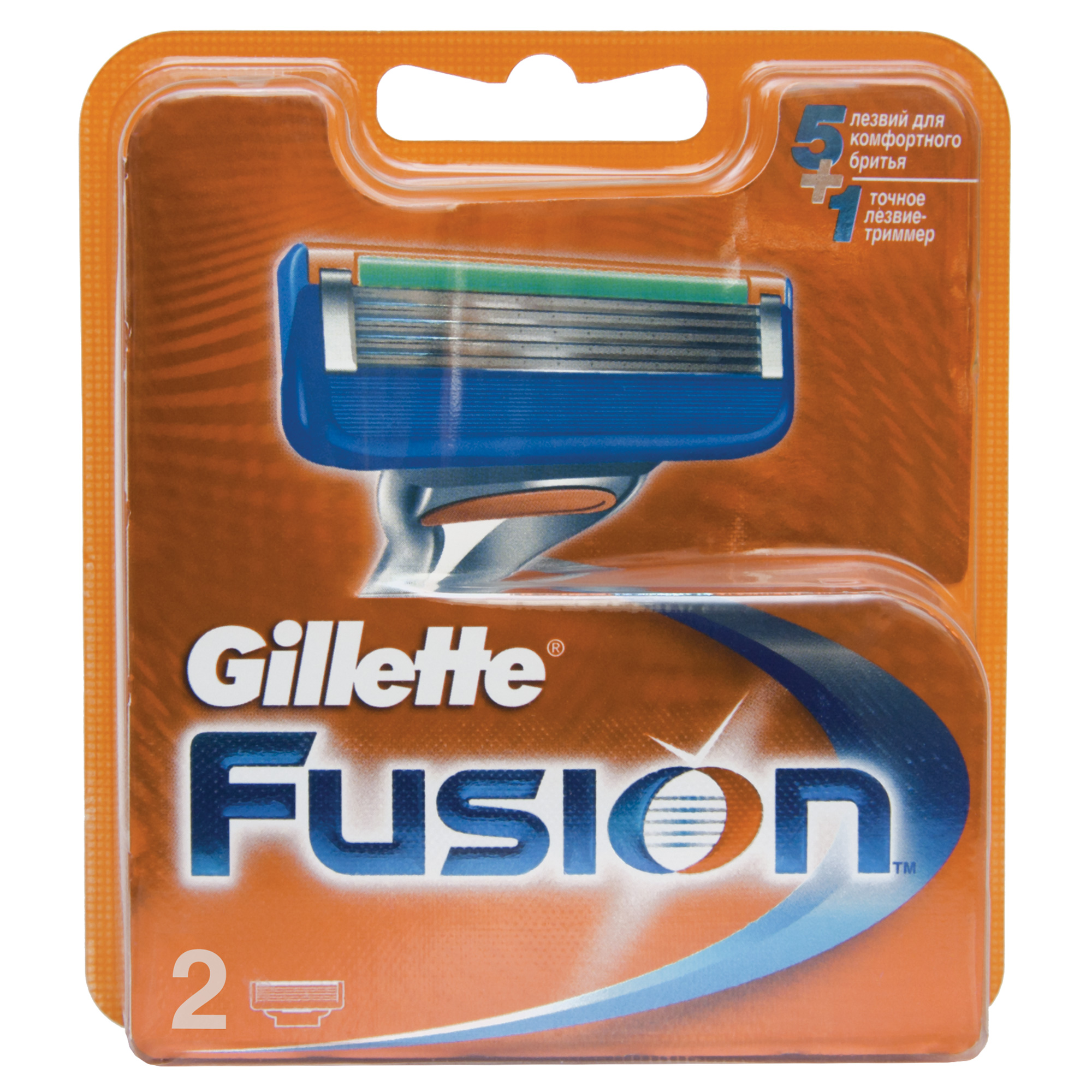 Gillette Fusion Сменные кассеты , 2 шт. - Мужские средства для бритья и уход за бородой