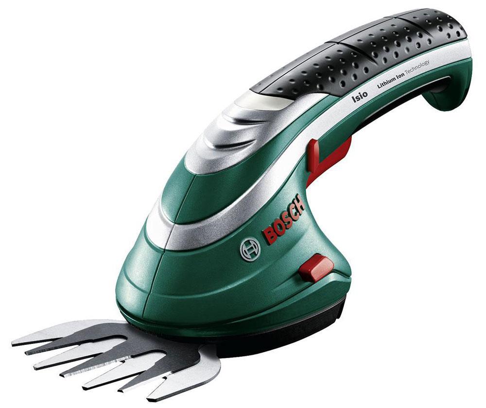 Аккумуляторные ножницы для травы Bosch ISIO 3 + штанга 06008331050600833105Аккумуляторные ножницы для травы Bosch ISIO 3 - компактный и легкий инструмент для комфортной работы в саду.Данная модель оснащена удобным 4-ступенчатым светодиодным индикатором заряда и антиблокировочной системой. Это предотвращает блокировку ножниц и обеспечивает комфортную работу без остановки.Благодаря литиево-ионному аккумулятору 3,6 В ножницы для травы Isio способны эффективно работать 50 минут на одной зарядке. Аккумулятор заряжается за 3,5 часа. Простая замена насадок обеспечивается благодаря системе SDS. Ножницы работают от аккумулятора 1,5 Ач до 50 минут.
