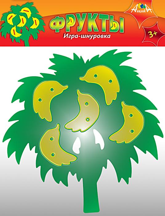АппликА Игра-шнуровка Бананы аэлита развивающая игра цветные столбики