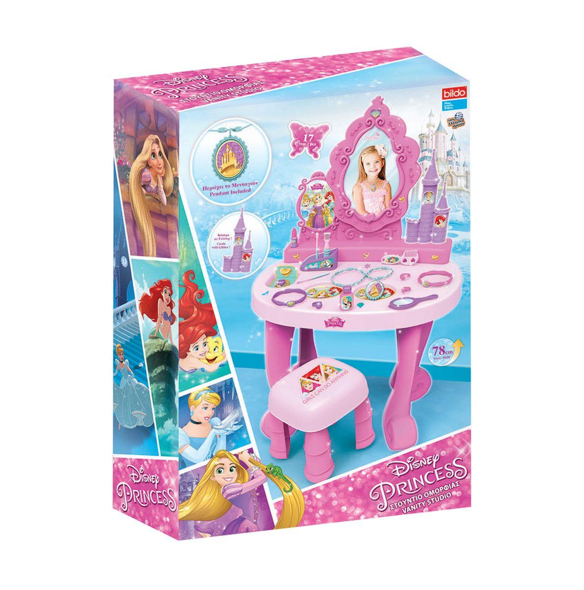 Bildo Игровой набор Парикмахерская Принцессы Дисней 17 предметов - Сюжетно-ролевые игрушки