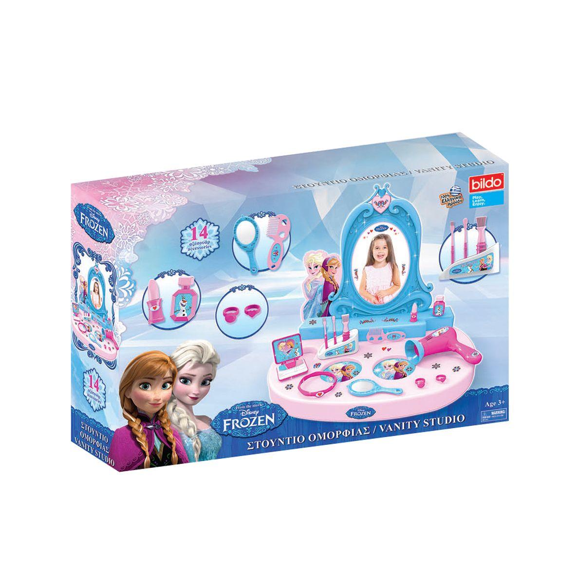 Bildo Игровой набор Парикмахерская Холодное сердце 14 предметов подарок девочке на 7 лет