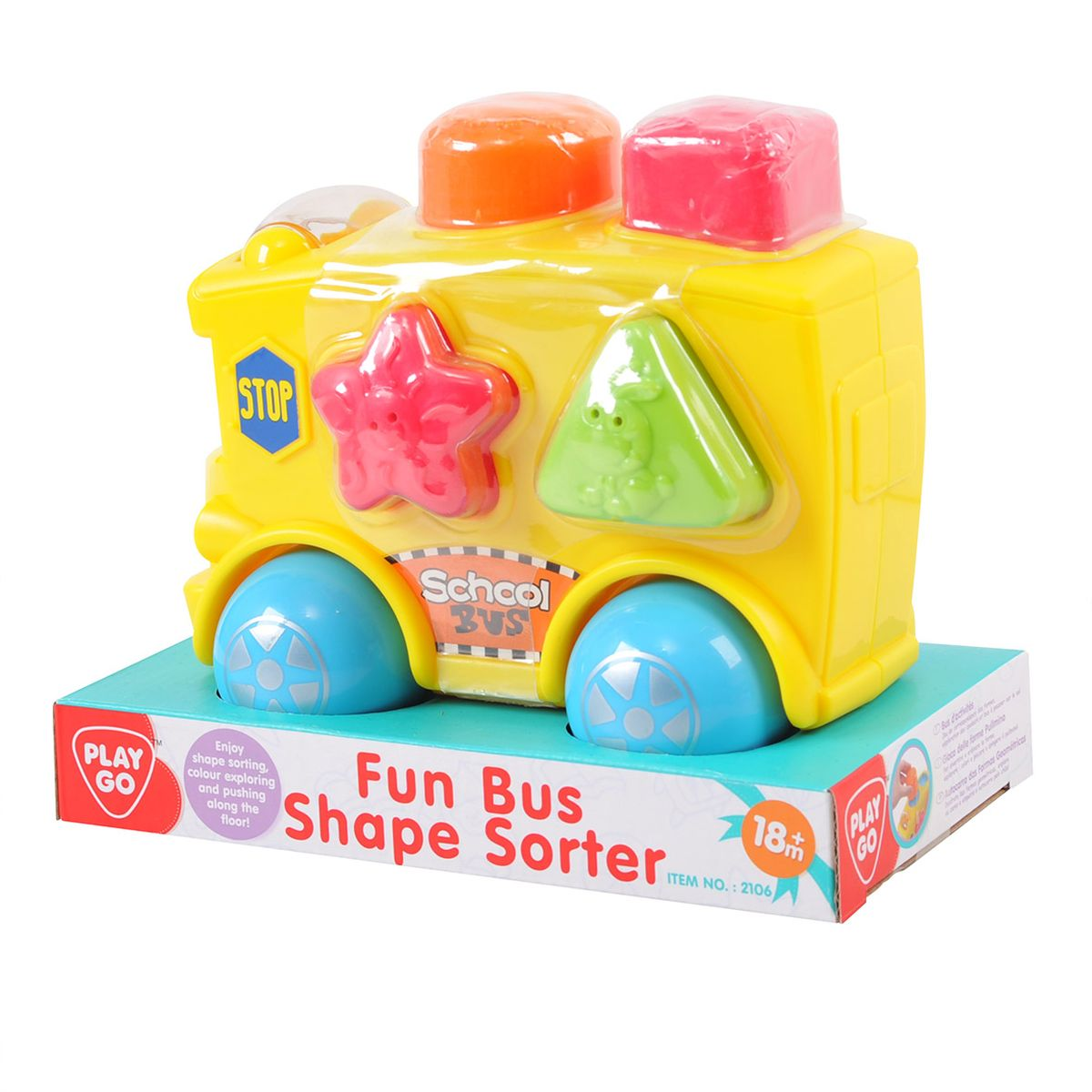 Playgo Развивающая игрушка Автобус-сортер машинки hti паровозик roadsterz синий с вагоном звуковыми и световыми эффектами