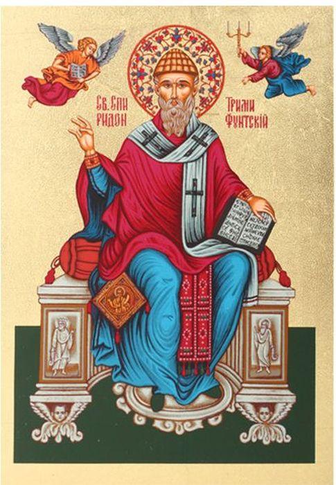 Икона Артола Святитель Спиридон, 18 см х 25 см х 2 см православная икона