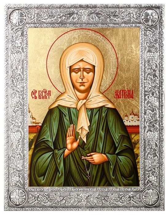 Икона Артола Святая Матрона, 11,5 см х 15,5 см х 1 см икона янтарная матрона московская кян 2 201