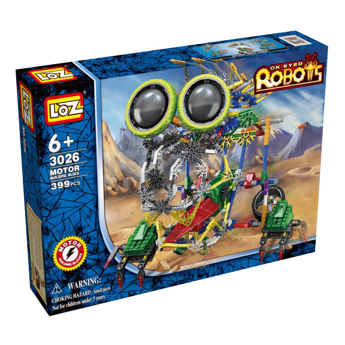 Loz Конструктор iRobot МегаЛап loz 50 деталей синий зеленый