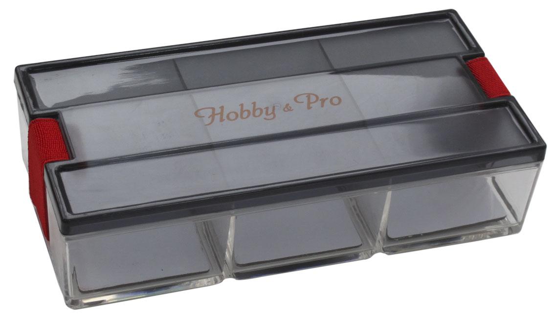 Контейнер для мелочей Hobby & Pro, с фиксирующей резинкой, 18,5 х 9 х 4,5 см7712774Контейнер для мелочей Hobby & Pro изготовлен из прозрачного пластика, что позволяет видеть содержимое. Подходит для хранения швейных принадлежностей, рыболовных снастей, мелких деталей и других бытовых мелочей. Крышка плотно закрывается благодаря фиксирующей резинке. Такой контейнер поможет держать вещи в порядке.