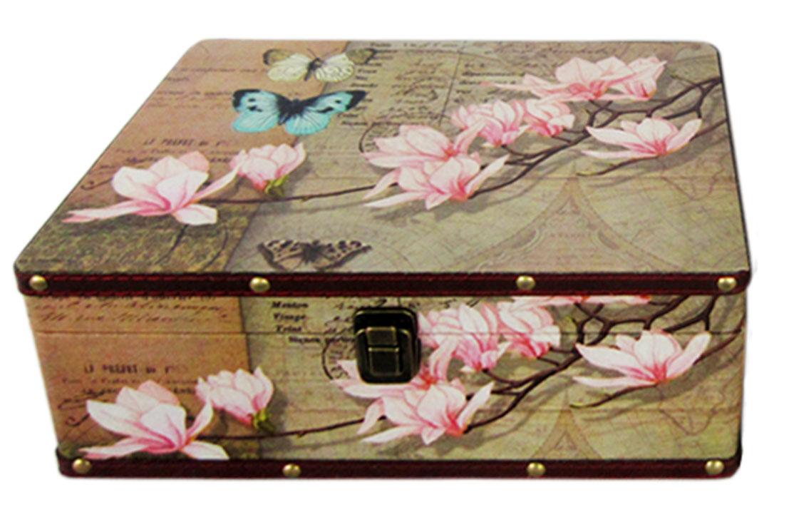 Шкатулка для рукоделия Бабочка в саду, 30х20х12 см. TL4752L771514701