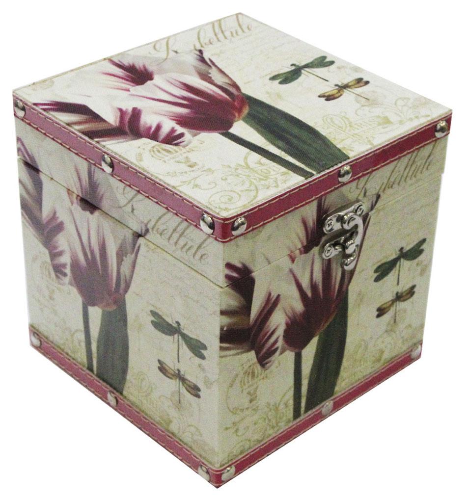 Шкатулка для рукоделия Стрекозы в саду, 12х12х12 см. TL4808S771515102