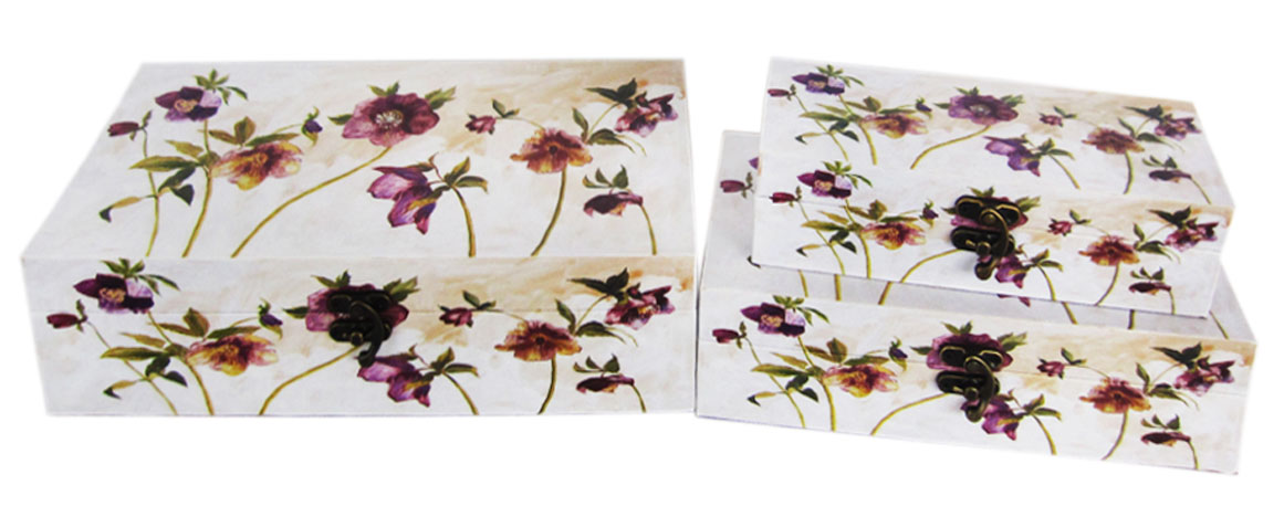 Набор шкатулок для рукоделия Полевые цветы, 30х16х8 см, 24х12х6,5 см, 20х8х5 см. TL48217715152