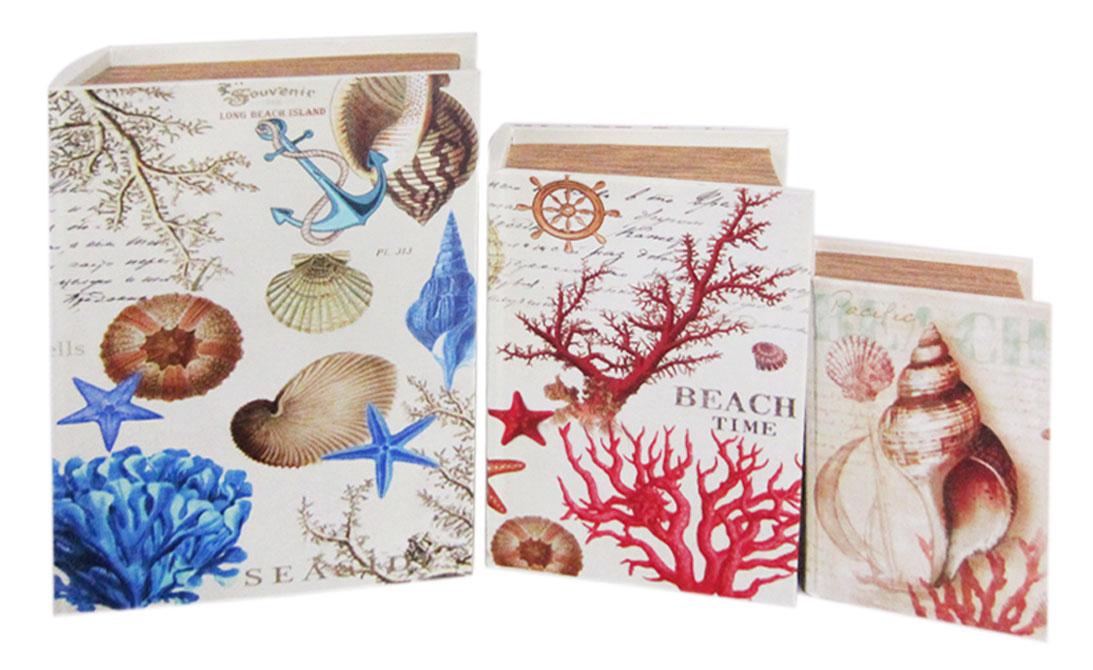 Набор шкатулок для рукоделия Морские сувениры, 27х20х7 см, 22х15х5,5 см, 17х11х4 см. TL48537715155