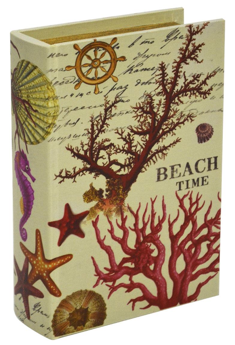Шкатулка для рукоделия Морские сувениры, 22 х 15 х 5,5 см771515502Шкатулка Морские сувениры изготовлена из МДФ, картона и холщовой ткани и оснащена крышкой. Изделие декорировано изображением морской тематики. Внутри шкатулка обтянута тканью коричневого цвета. Изящная шкатулка с ярким дизайном предназначена для хранения мелочей, принадлежностей для шитья и творчества и других аксессуаров. Она красиво оформит интерьер комнаты и поможет хранить ваши вещи в порядке.
