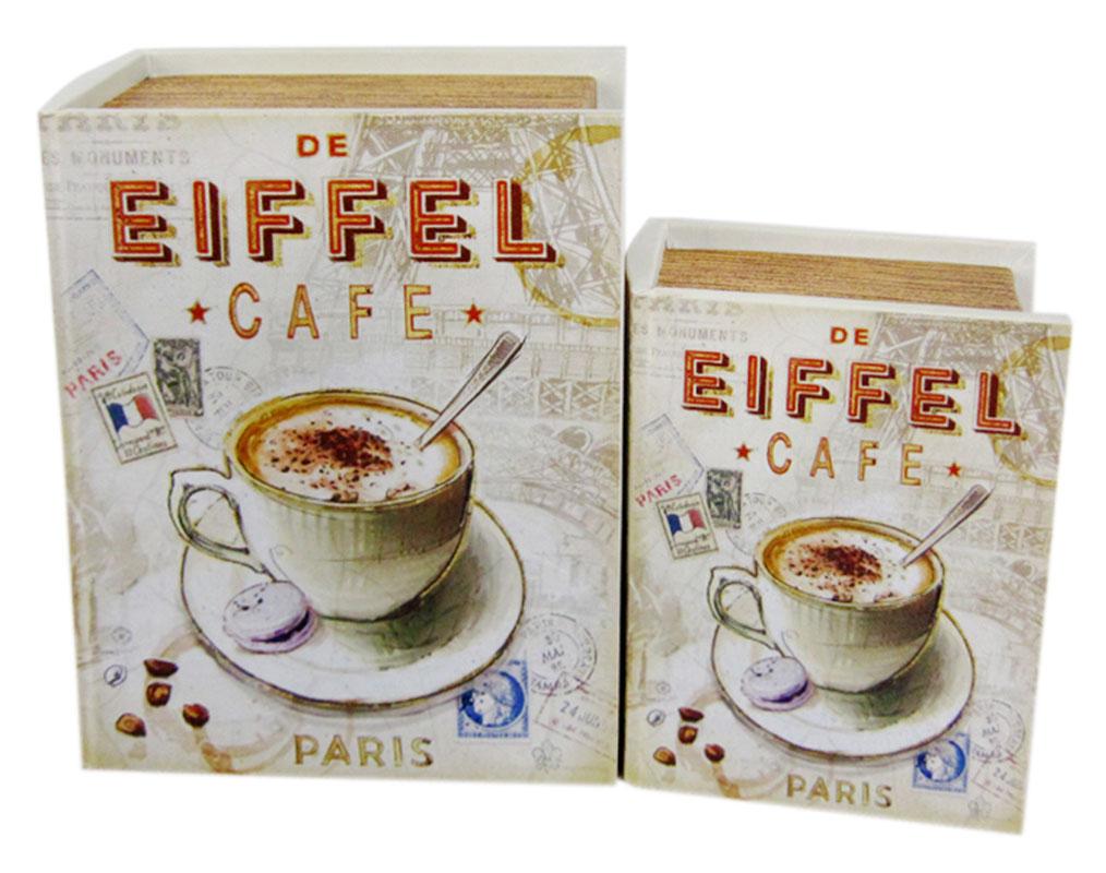 Набор шкатулок для рукоделия Кафе в Париже, 20х15х6 см, 15х11х4,5 см. TL41907715164