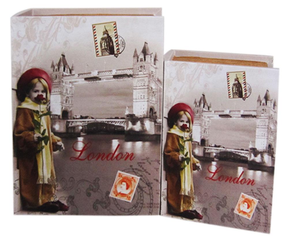 Набор шкатулок для рукоделия Лондон, 24х18х6,5 см, 19х13х5 см. TL45707715171