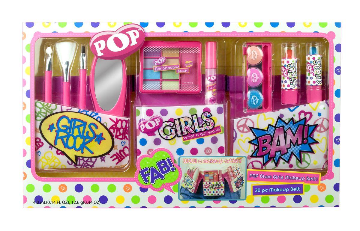 Markwins Игровой набор детской декоративной косметики Pop Girl с поясом визажиста3601051Набор декоративной косметики Markwins - отличный подарок для девочки! С ним ребенок сможет почувствовать себя настоящим визажистом, создавать яркие стильные образы. В набор входят тени, румяна, блески, помады, кисточки и аппликаторы, а также удобный пояс визажиста, который регулируется по обхвату талии.Детская косметика Markwins создана с соблюдением самых высоких европейских стандартов безопасности. Продукция не содержит парабенов, метилизотиазолинона, пальмового масла. Предназначена для детей от 7 лет. Несмотря на высокое качество продукции и ее общую гипоаллергенность, производитель рекомендует проверить индивидуальную реакцию на косметику перед ее использованием. Просто нанесите на кожу немного косметики и подержите 30-60 минут. Если на коже появится покраснение, следует прекратить использование продукции. Эта аллергическая реакция проявляется очень редко и зависит от индивидуальных особенностей организма.Условия хранения: хранить при температуре от +5 до +25 градусов; не допускать попадания прямых солнечных лучей.