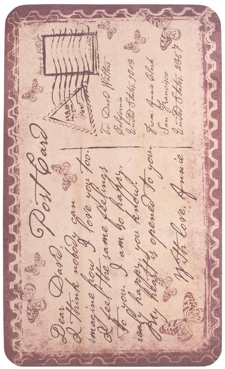Коврик для ванной комнаты Valiant Romantic Letters, цвет: розовый, 75 х 45 см