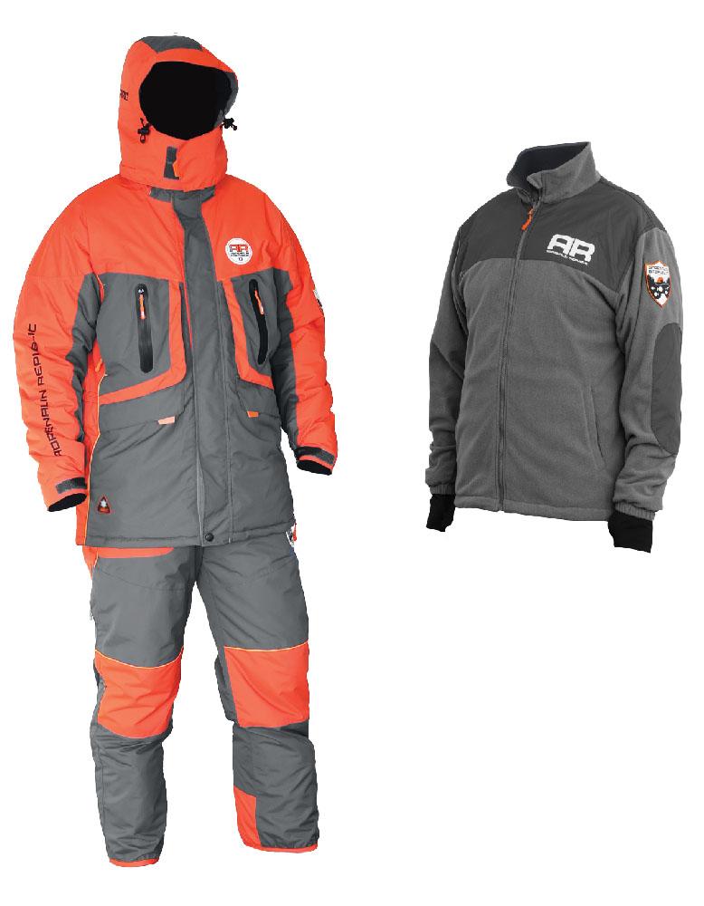Костюм рыболовный Adrenalin Republic Evo 3in1, цвет: рыжий, серый. 89908. Размер L (48/50)Evo 3in1Костюм разработан на базе отлично зарекомендовавшей себя модели ROVER, выполнен в новой цветовой гамме и предназначен для температур до -40 градусов. Отличительной особенностью данной модели является наличие теплой флисовой куртки в комплекте с костюмом. Благодаря использованию системы застежек-молний, носимая отдельно флисовая куртка из этого комплекта легко и просто пристегивается к основной куртке для дополнительного удобства и возможности ношения в качестве зимней подстежки. В костюме Adrenalin Republic EVO 3in1 вы можете спокойно находится на свежем воздухе даже в самый лютый мороз, не боясь замерзнуть. Водонепроницаемость: 7000 мм Дышащая способность материала: 10000 г/м2 Утеплитель куртка/брюки: 250/200 г/м2 Особенности пристегиваемой флисовой куртки: - Можно носить как отдельно, так и пристегнутой к основной куртке; - Внутренняя вставка-манжет с прорезью для большого пальца препятствует сползанию рукава; - Декоративные вставки из плотного материала на рукавах и плечах.