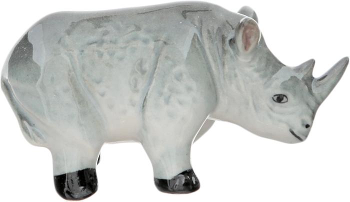 Статуэтка миниатюрная Носорог. Фарфор, роспись, ручная работа. Высота 3 см. Таиланд магнит пингвин с мороженым авторская работа стекло роспись магнит ручная работа россия