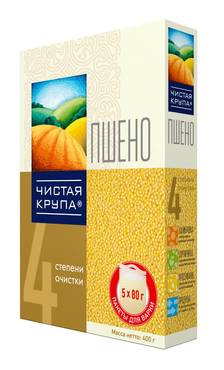 Чистая Крупа пшено в пакетиках для варки, 5 шт по 80 г увелка крупа пшеничная в пакетах для варки 5 шт по 80 г